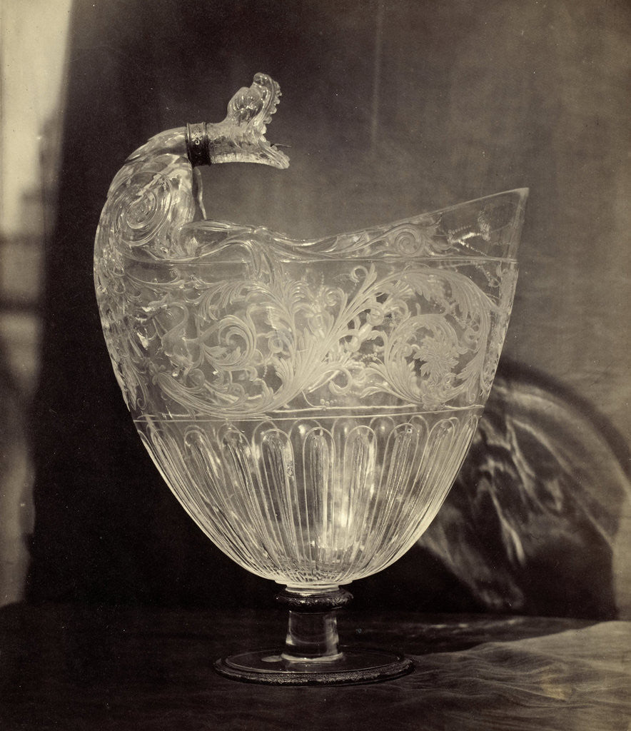 Detail of Crystals jug engraved with animal head, from the Louvre, Charles Thurston Thompson by Charles Thurston Thompson