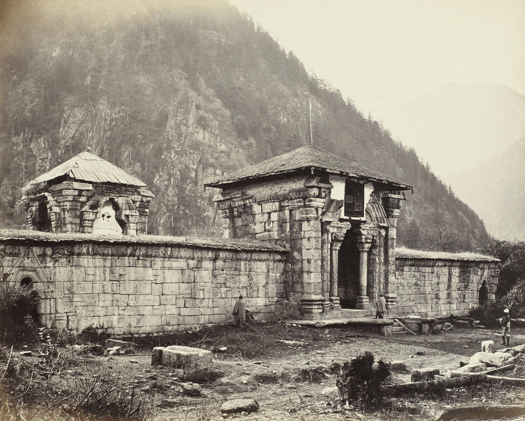 Detail of Ancient Temple in Kashmir by Samuel Bourne