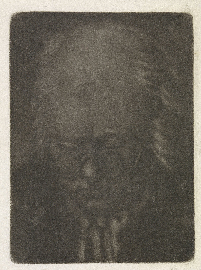 Detail of Head of an old man with glasses by Anthonie van den Bos