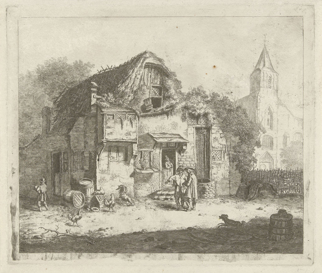 Detail of Farm at a church by Jabes Heenck