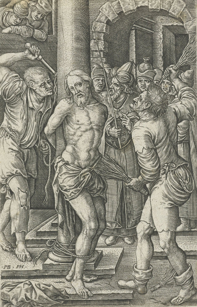 Detail of Flagellation by Pieter Huys