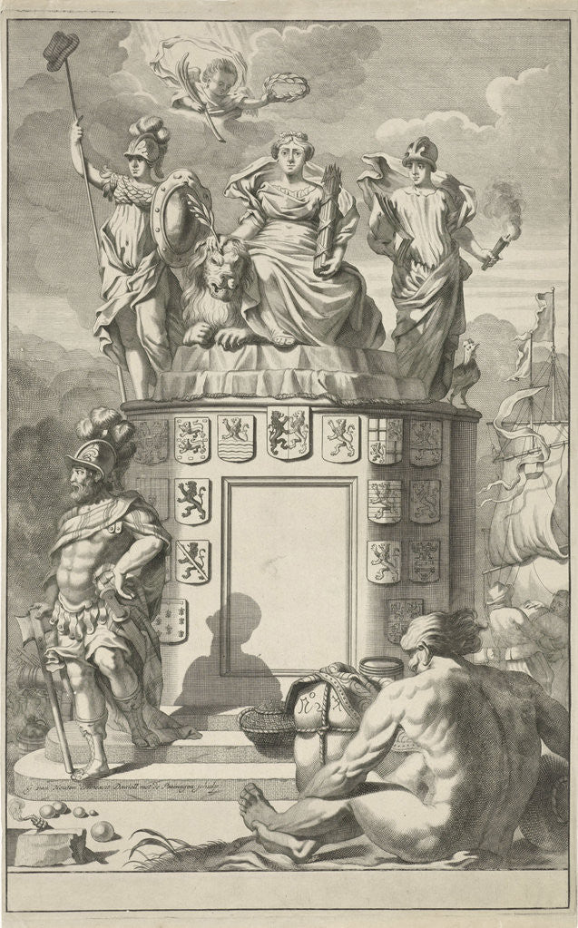 Detail of Allegory of the victorious Habsburg Netherlands by Daniël met de Penningen