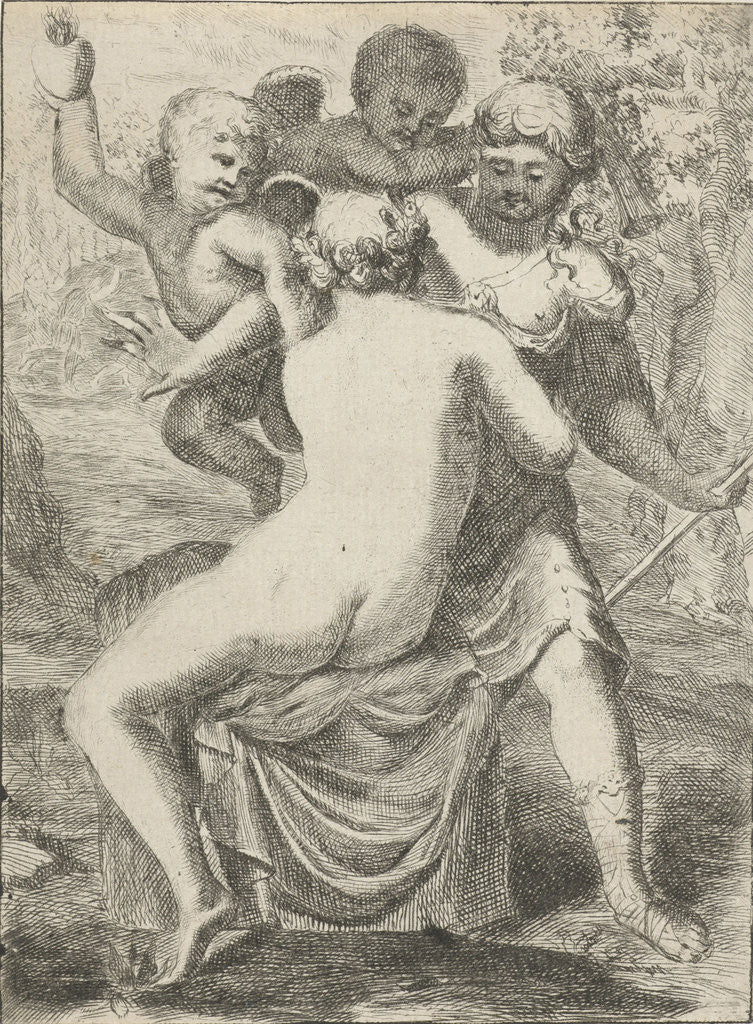 Detail of Jupiter seduces Callisto by Pieter van der Plas II
