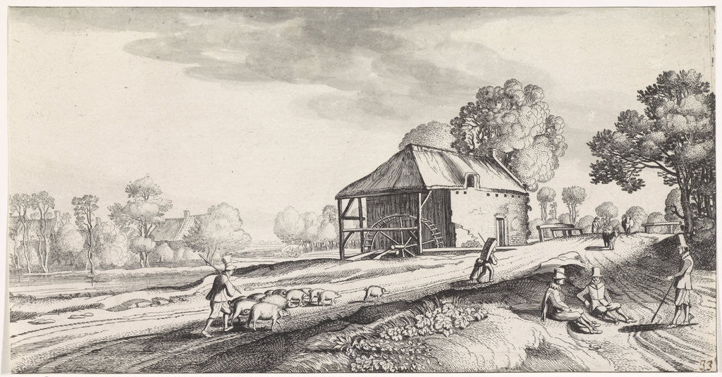 Forked Road at a watermill by Jan van de Velde II