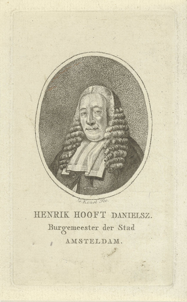 Detail of Portrait of Henry Hooft Danielsz by Gerrit Konsé