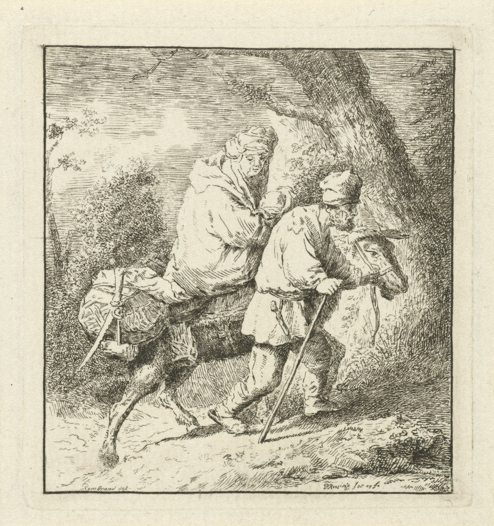 Flight into Egypt by Rembrandt Harmensz. van Rijn