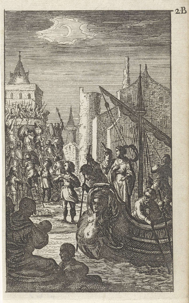Galley at the storming of a castle by Gerrit van Goedesberg