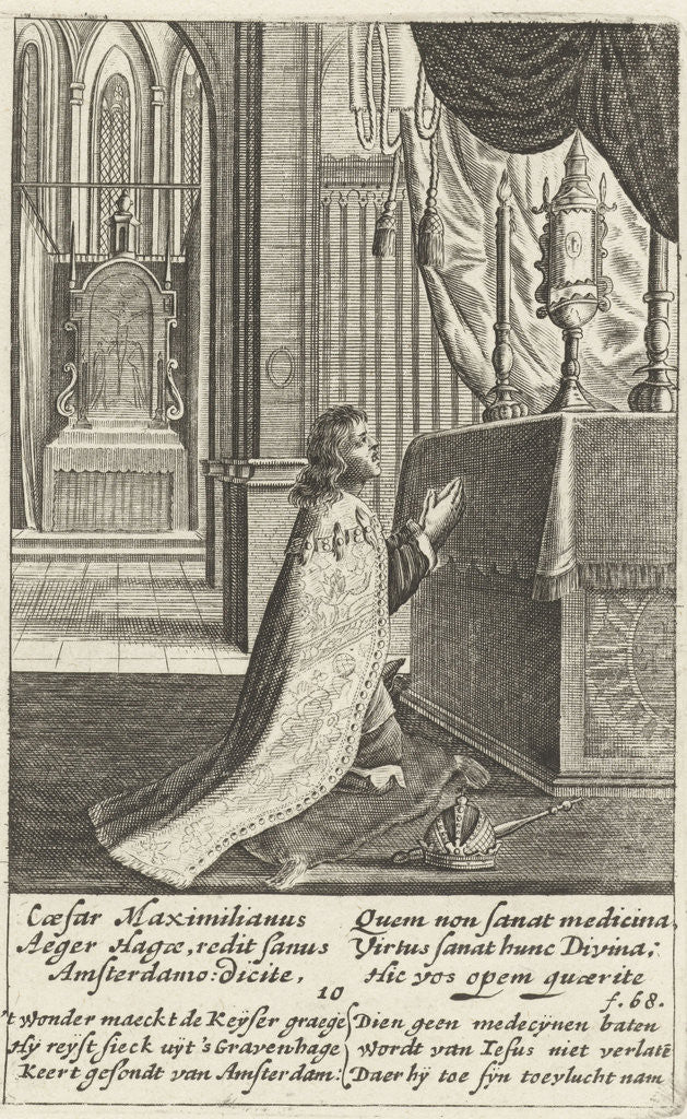 Detail of Emperor Maximilian pray before the Blessed Sacrament, 10 by Henry Aertssens