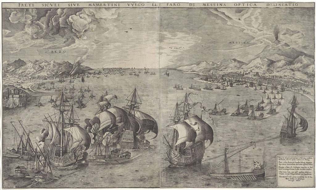 Detail of Battle in the Strait of Messina by Anonymous