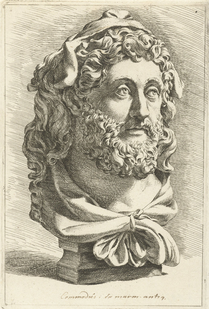 Detail of Bust of Emperor Commodus as Hercules by Jan de Bisschop