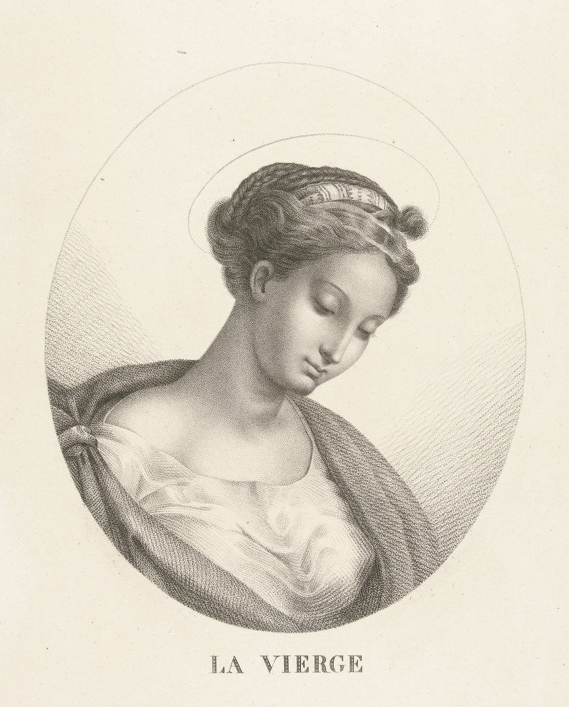 Detail of Bust of Mary in oval by François Deleu
