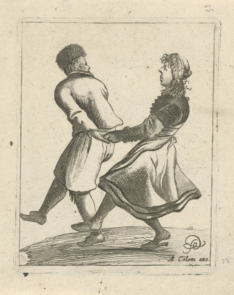 Detail of Dancing couple by Arnold Colom