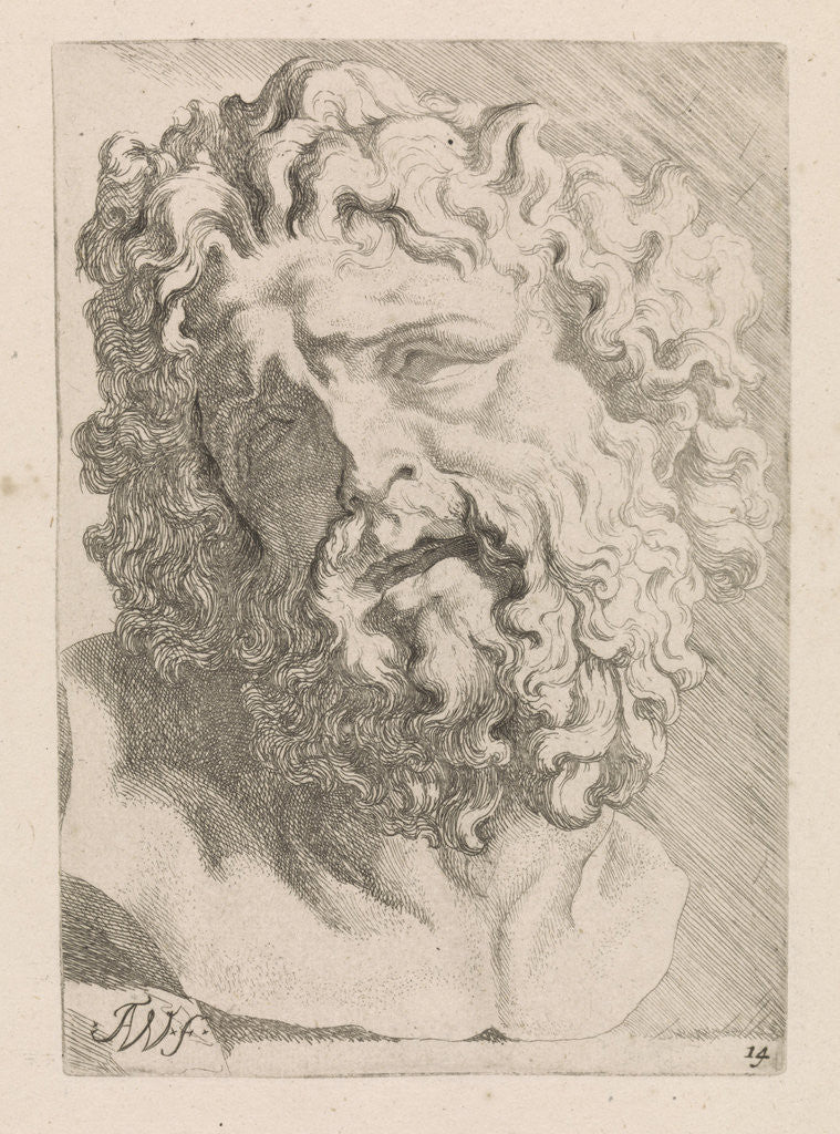 Detail of Head of Laocoön by Augustinus Terwesten I