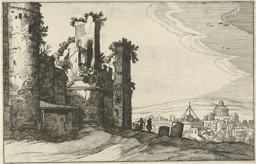Detail of View of Rome from Monte Pincio by Claes Jansz. Visscher II