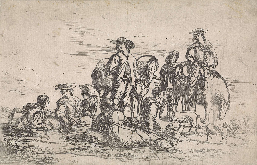 Detail of Resting hunt by Anonymous