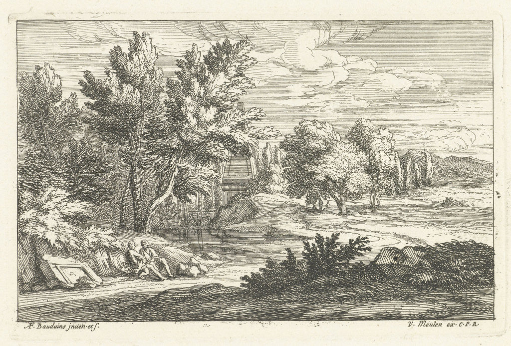 Detail of Landscape with a tomb by Lodewijk XIV