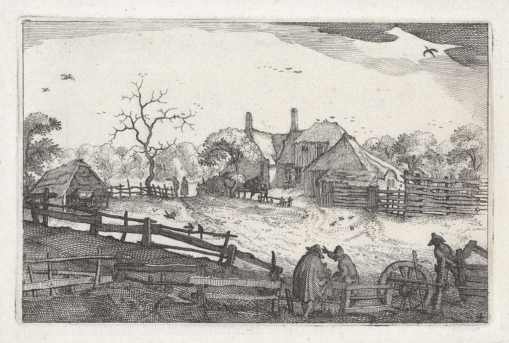 Detail of Pater's inn near a country road, view near Haarlem by Claes Jansz. Visscher II