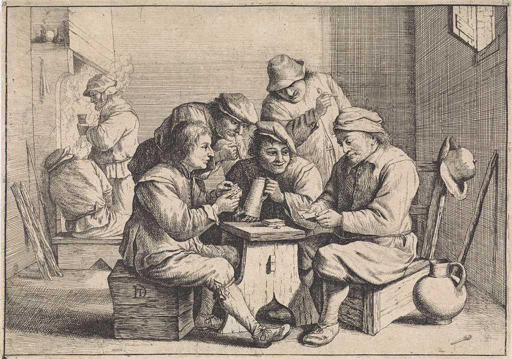 Detail of Card Players by Anonymous