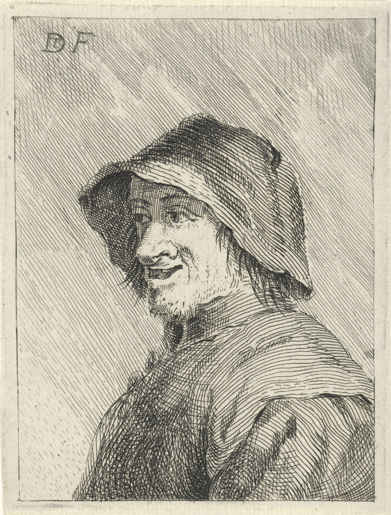Detail of Farmer with hat on the head to the left by Anonymous