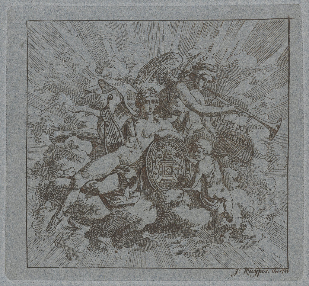 Detail of Allegorical composition by Felix Meritis by Jacques Kuyper