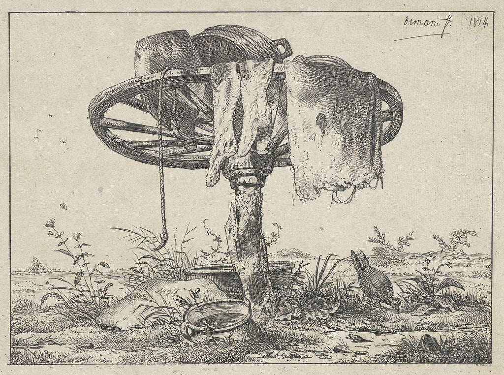 Detail of Wheel on a pole by Anthonie Willem Hendrik Nolthenius de Man