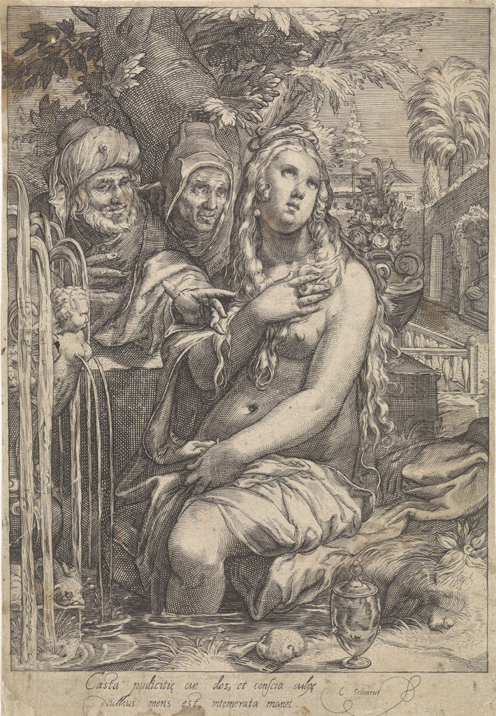 Detail of Susanna and the Elders by Hendrick Goltzius