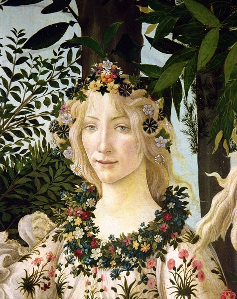 Detail of Flora by Sandro Botticelli