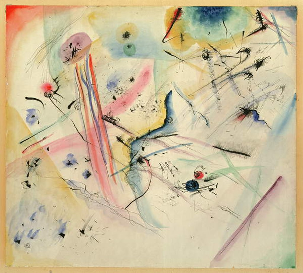 Detail of Composition with Red and Blue Stripes, 1913 by Wassily Kandinsky
