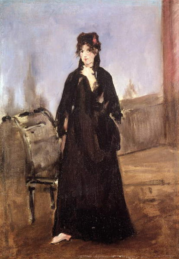Detail of Portrait of Berthe Morisot in Pink Shoes, 1872 by Edouard Manet