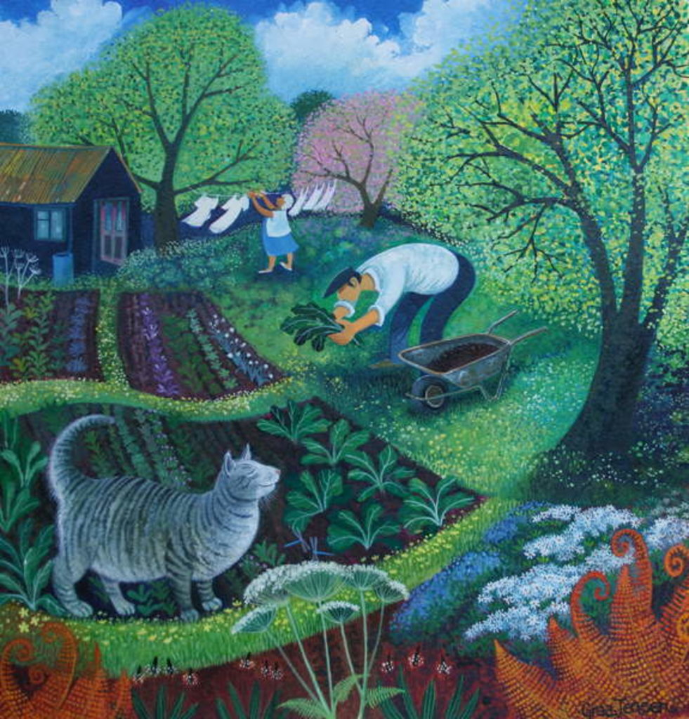 Detail of Allotment Cat by Lisa Graa Jensen
