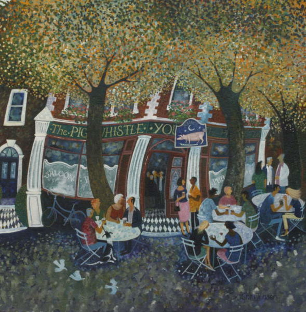 Detail of Wandsworth Pub, 2013 by Lisa Graa Jensen