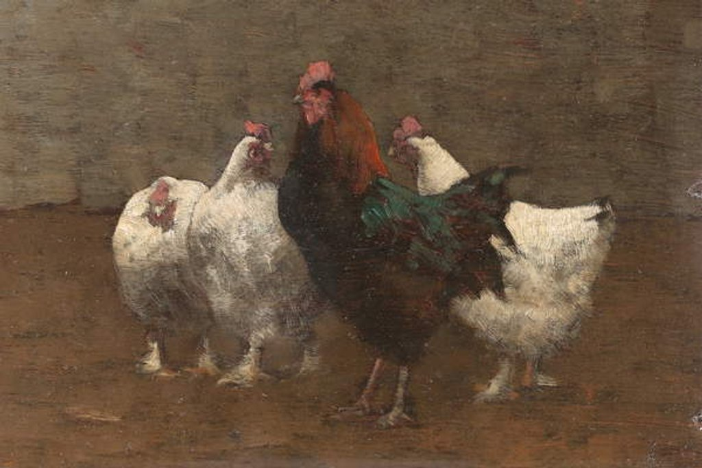 Detail of Fowls, 1896 by Horace Mann Livens