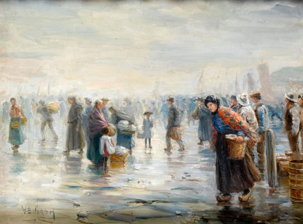 Detail of Crowds on a Wet Day by Walter Bonner Gash