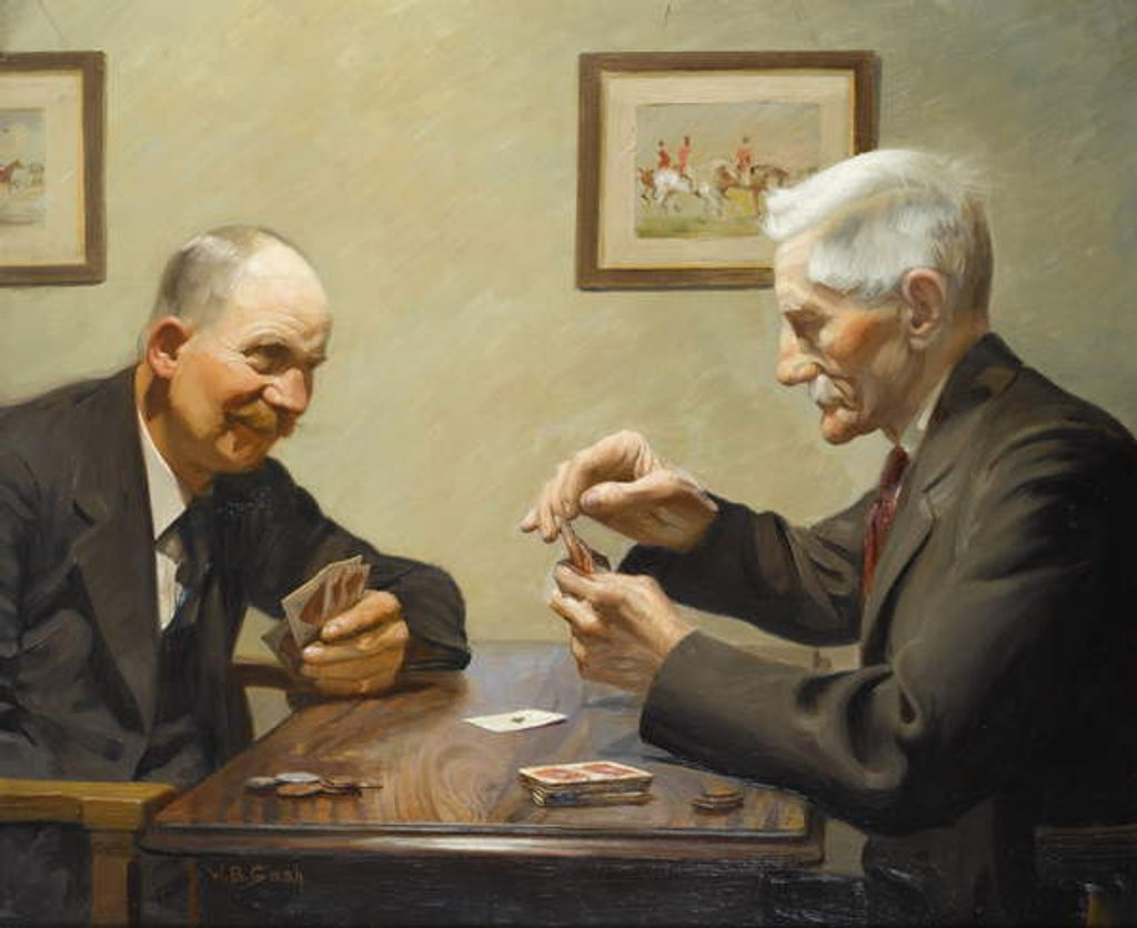 Men Playing Cards by Walter Bonner Gash