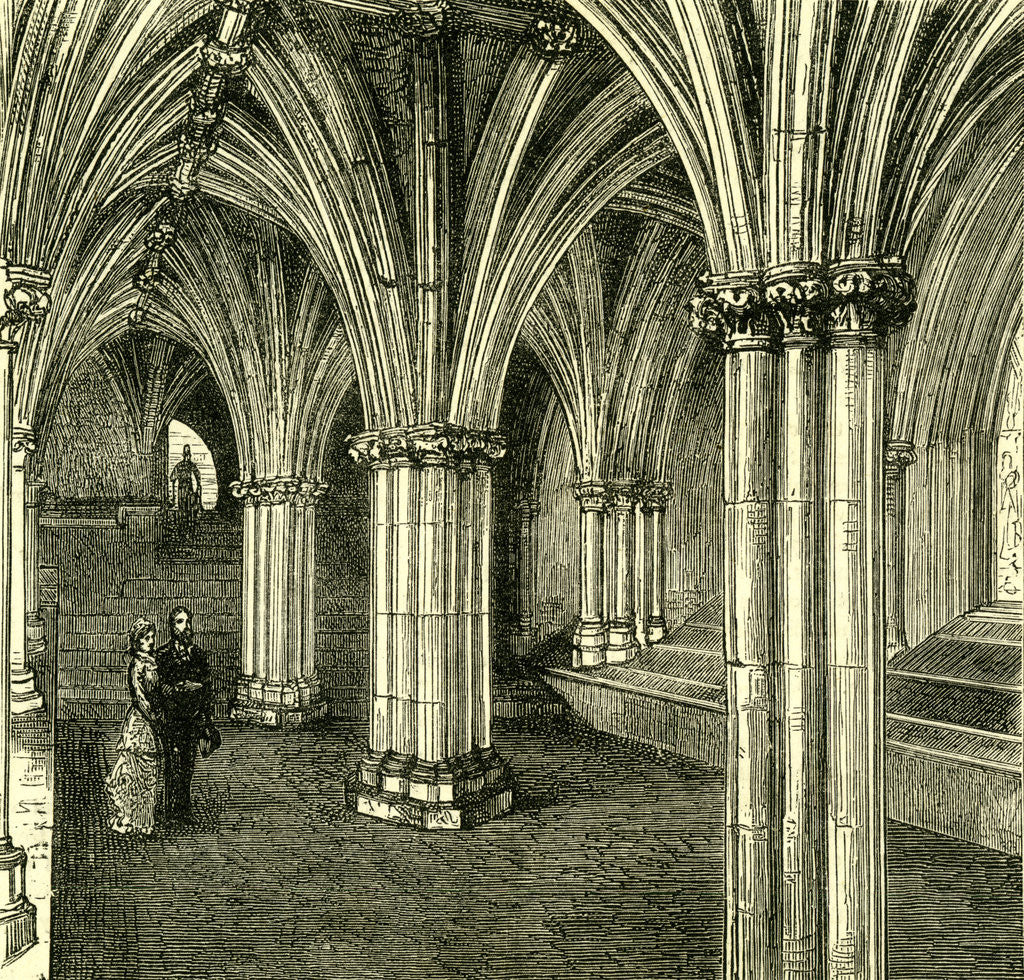Detail of Glasgow Cathedral 1880 the Crypt by Anonymous