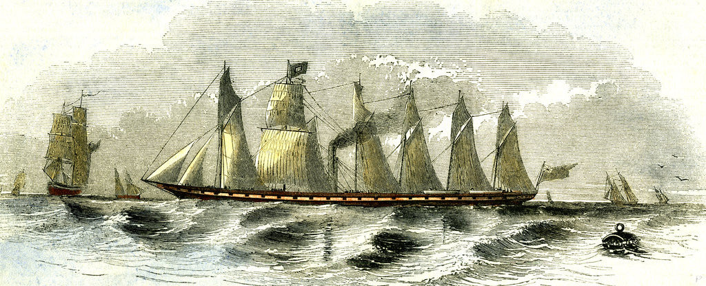 Detail of Great Britain Steamship 1847 by Anonymous