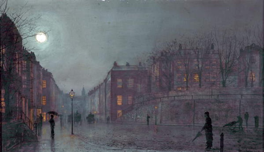 Detail of A View of Hampstead, London, 1882 by John Atkinson Grimshaw