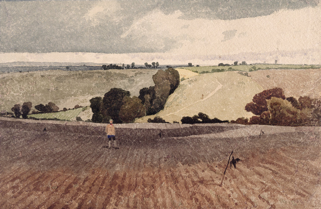 Detail of A Ploughed Field, c.1808 by John Sell Cotman