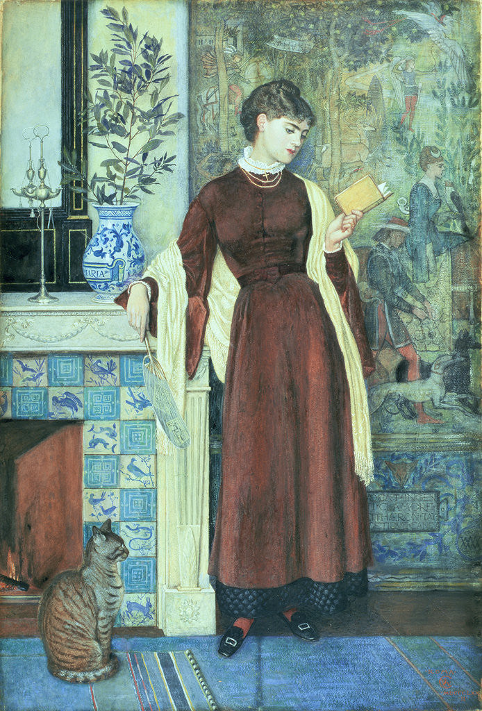 Detail of At Home: A Portrait, 1872 by Walter Crane