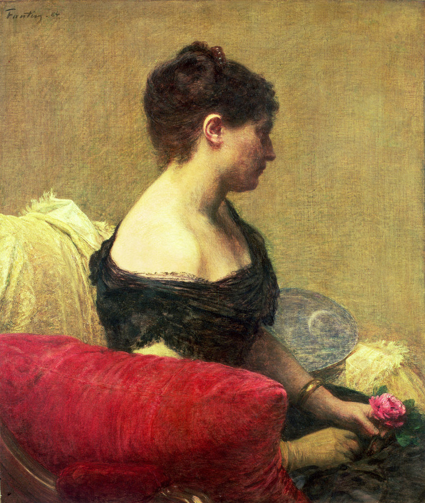 Detail of Portrait of Madame Maitre by Ignace Henri Jean Fantin-Latour