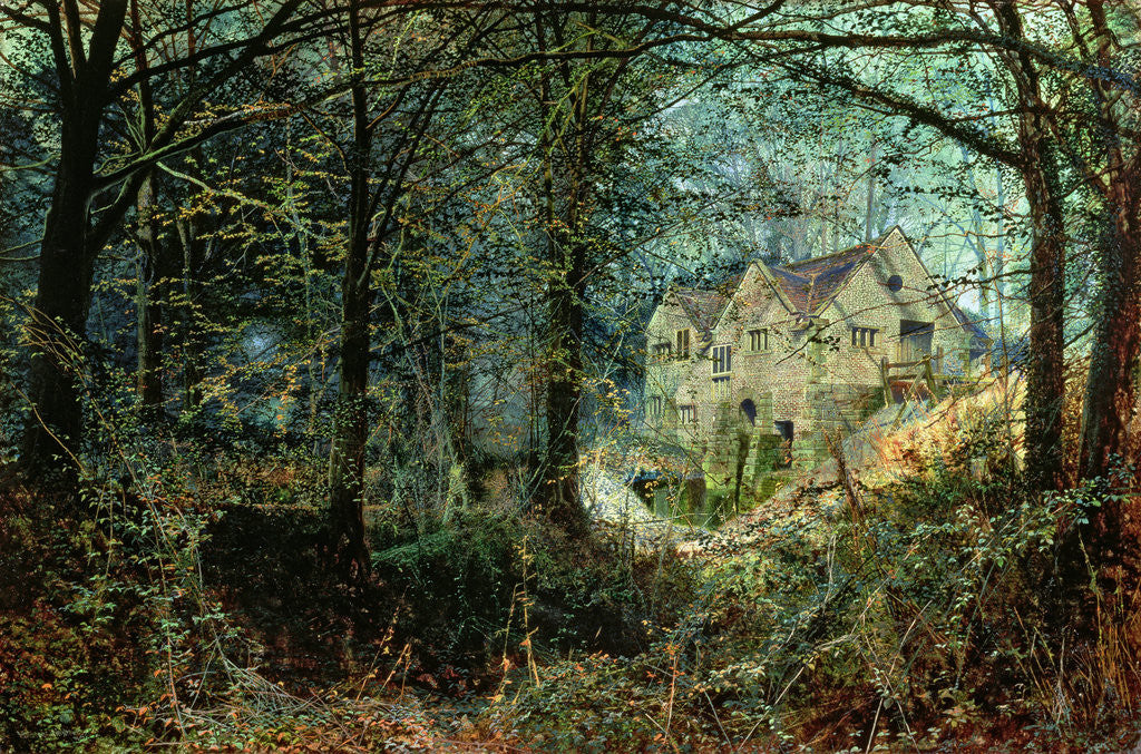 Detail of Autumn Glory: The Old Mill, 1869 by John Atkinson Grimshaw