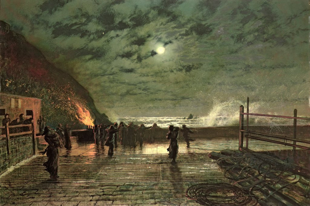 Detail of In Peril by John Atkinson Grimshaw