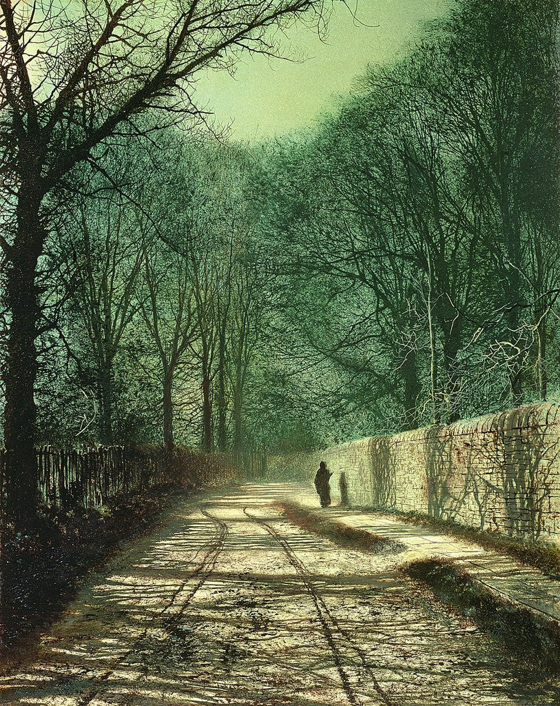 Detail of Tree Shadows in the Park Wall, Roundhay, Leeds, 1872 by John Atkinson Grimshaw