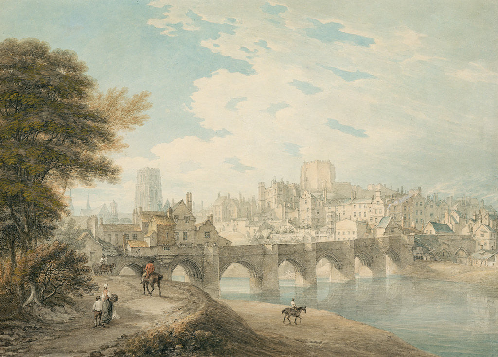 Detail of North-East View of Durham, c.1783 by Thomas Hearne