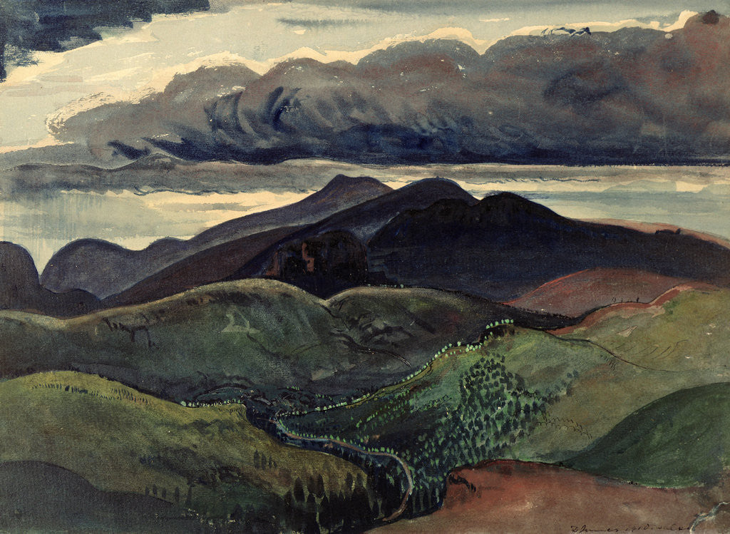 Detail of The Dark Mountains by James Dickson Innes