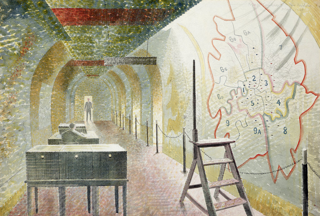 Detail of No 1 Map Corridor, 1940 by Eric Ravilious