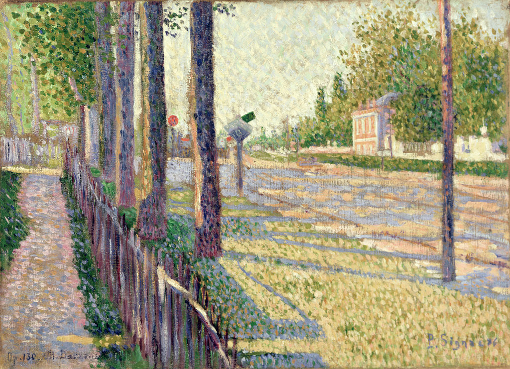 Detail of The Railway Junction at Bois-Colombes, or La Route Pontoise, 1886 by Paul Signac