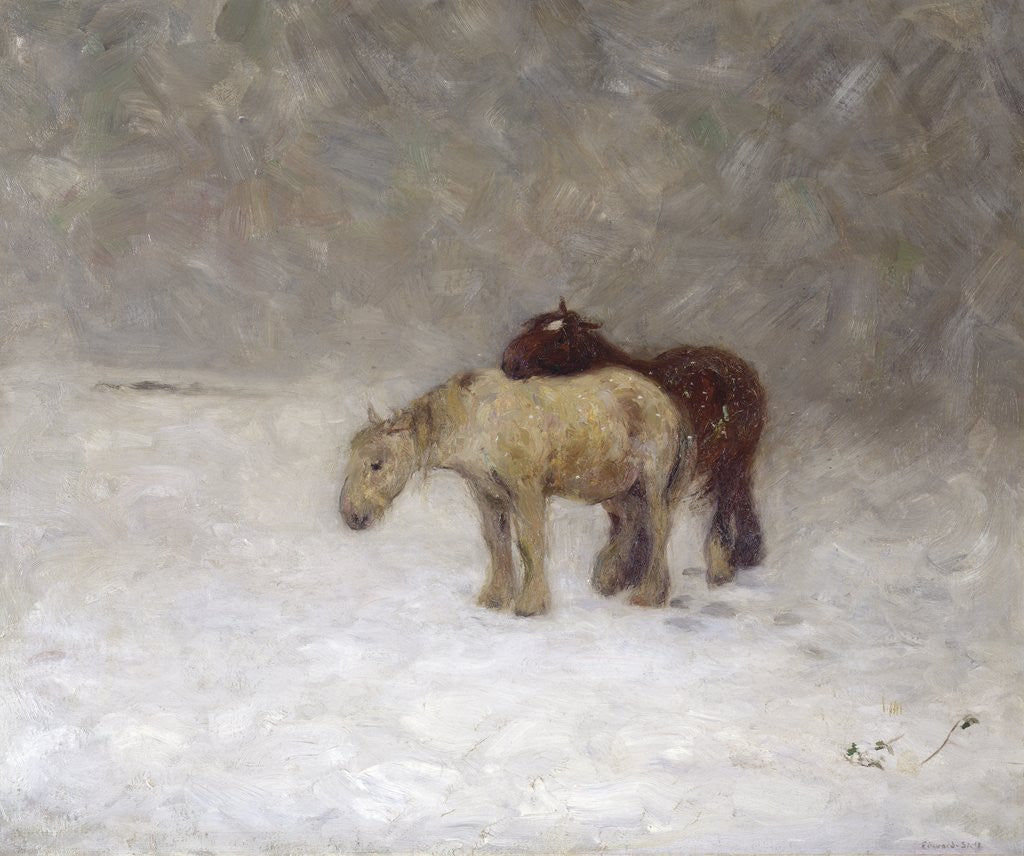Detail of A Snow Storm, c.1891 by Edward Stott