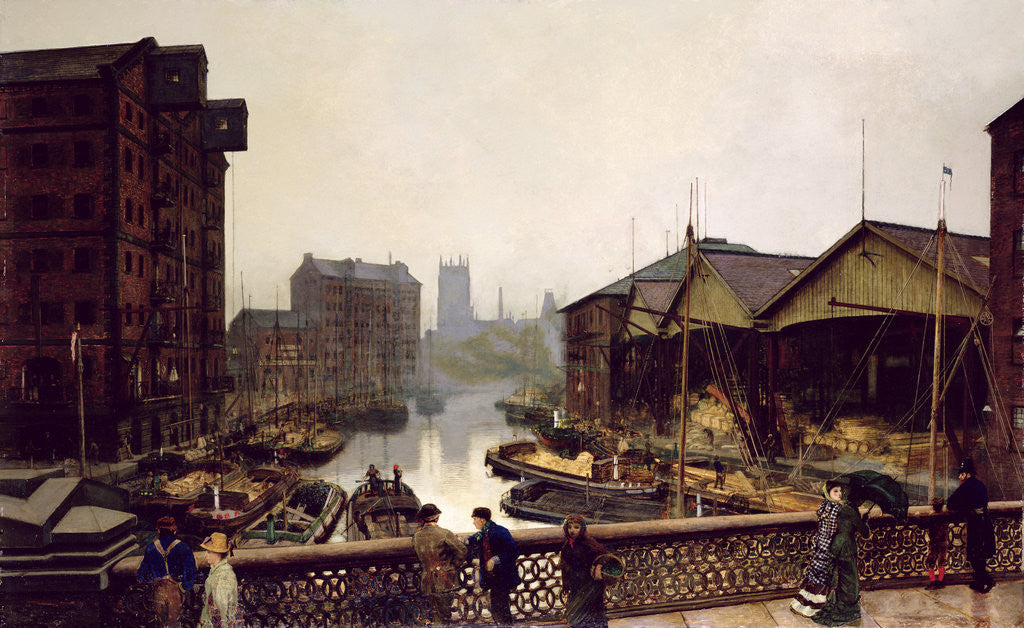 Detail of Leeds Bridge, 1880 by John Atkinson Grimshaw