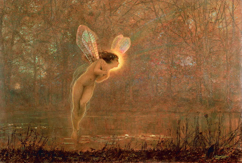 Detail of Iris, 1886 by John Atkinson Grimshaw